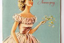 Модные картинки / Рисунки из старых журналов мод