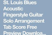 St. Louis Blues Tab Tutorial Score Free Download
