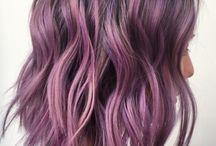 Lila hår