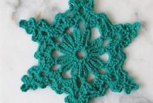 Crochet  Snowflakes and stars