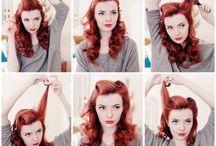 Pin Up Hair/MU  40s look / by Jennifer Morse