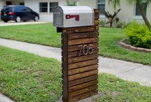 poštová schránka s podstavcom