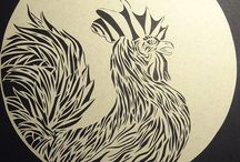 Papercuts of birds / Papercuts of different kinds of birds. handmade with a shitload of love Copyright Allon verheul