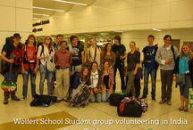 Wolfert School Student group volunteering in India / Every year student group form Wolfert School volunteer in India for Street Children Program, April 2014  #groupvolunteer