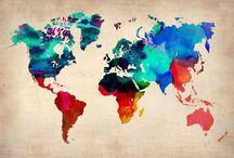 A louca dos Mapas / Mapas de todas as cores e estilos!