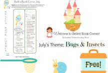 FREE Printable Kids Bookmarks / Monthly themed book list and bookmarks for kids!
