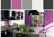Colourful Kitchen inspiration! / While white is still the most popular colour for a kitchen space, many homeowners are branching out and choose a more diverse colour palette that helps to create an inviting atmosphere for cooking, baking or entertaining! Here are some inspirational colour palettes I love! #homedecor #inspiration #kitchen #color #colour @stylyze
