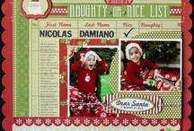 christmas layouts / by Cate Brickell | Blogger