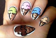 Fun Ice Cream Cone Nail Designs