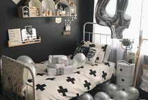Monochrome boys room inspiration