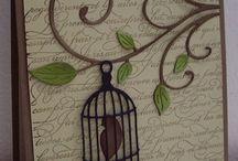 Bird cage cards
