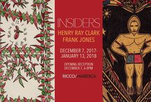INSIDERS: Henry Ray Clark + Frank Jones / December 7, 2017 – January 13, 2018. Featuring the work of Henry Ray Clark and Frank Jones. Both artists lived in the Huntsville State Prison in Texas at different times, creating powerful and distinct bodies of work that quickly transcended its walls.