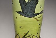colour with terra sigs, slips & underglaze  / by Tracy Horsman
