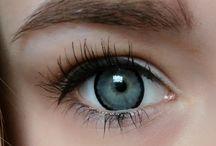 Lenses on light eye (real foto)