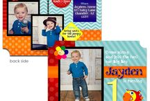 1st Birthday Invitations / Custom Photo Birthday invitations, thank you cards and party supplies. Digital images or pre-printed cards available!