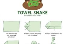 Folded towels/napkins