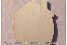 Basic Shapes - Laser Cut Wooden Shapes / Laser cut wooden shapes