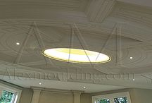 alexmoulding wall panel wainscoting coffered ceilings  / coffered ceilings designs, waffle ceiling ideas, wall panels wainscotings