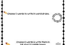 Word wall work