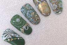 Идеи ногти Новый год зима
