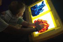 Light box activities for children / Light box ideas for young children