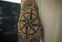 Compass and rose tattoo / Compass and rose tattoo