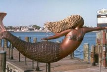 The Mermaids of Norfolk, Virginia / If you've never been to Norfolk, Virginia, you may not know about the mermaids. Visit and find these beauties! / by Virginia is for Lovers