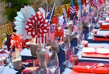 Patriotic theme / Red, White and Blue - 4th of July or any patriotic theme.  How can we help you decorate your event? www.yourmainstream.com   Main Stream Events and PR Firm