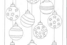 Christmas coloring & templates