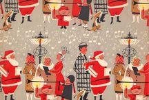 Vintage Weihnachten Papier