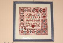 SAL 2014: népi mintakendő / traditionennes Mustertuch / Elkészült munkák - fertige Arbeiten