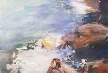"""Pintura: Pilar Esporrín y Silvia Castell / Exposición """"Entre dos paisatges"""", Castell de Bendormiens, 22-10-2016"""