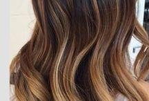 Dark balayage ombré hair