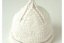 Knitting Patterns baby beanies, baby hats / by Linda Whaley