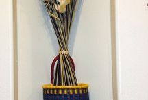 Some ideas for Bolga Baskets /  Our umbrella basket. Its great for dried flowers.