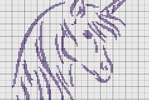Cross stitch - unicorns