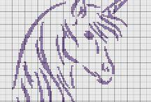 Cross stitch - unicorns
