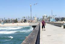 Venice Beach à Los Angeles / Photos de la plage et de la jetée de Venice Beach dans la ville de Los Angeles aux Etats-Unis.
