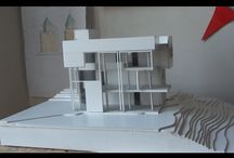 Smith House, Richard Meier, 1:100 scale / architectural model - Smith House by Richard Meier - scale 1:100