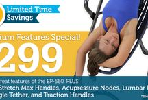 Teeter Promotions & Deals! / Teeter products promotions or deals, like Teeter Inversion Tables & ThunderBell. See teeter-inversion.com for terms and conditions. Expiration date is based on availability through teeter-inversion.com / by Teeter