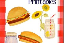 Just Paint It: Party Printables / My clip art for birthday parties, weddings, showers and more. Ideas for inspiration.