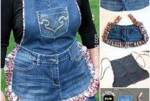 manualidades  jeans y tela
