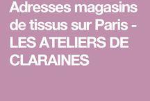 Adresse magasins de tissus Paris