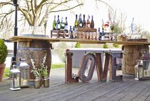 Uses of Barrels at Weddings / Barrels are a great way to display food, your wedding cake, cards and presents, they can be used as a bar….the possibilities are endless!