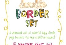 Fun Fonts and Borders / by Kris Prey