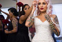 badass bridal makeup & hair