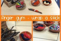 Finger gyms / Preschool activities