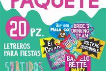 Letreros para fiestas COCONUT