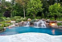 waterfaal  pool