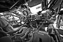 Inside car